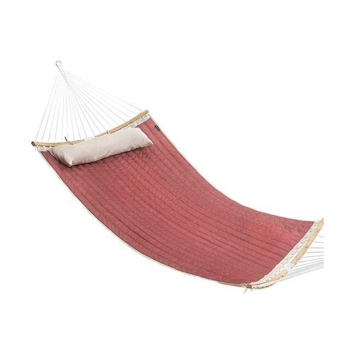 Padded Double Hammock Burgundy and Beige