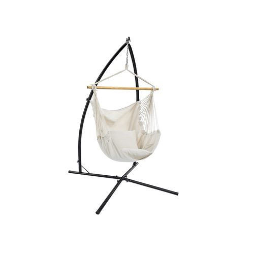 Hammock Chair with Stand Beige
