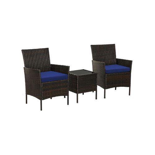 Patio Wicker Chairs Set