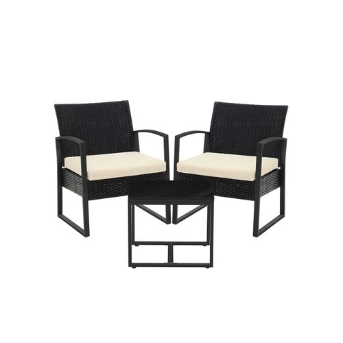 Mics 3 Piece Patio Set Outdoor, Outdoor Patio Furniture Set