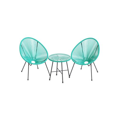 Aqua Green 3-Piece Outdoor Acapulco Chair
