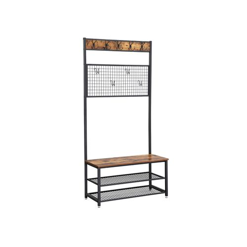 Industrial Shoe Rack Bench