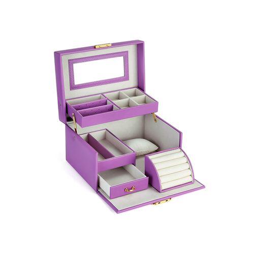 Purple Mirrored Jewelry Box