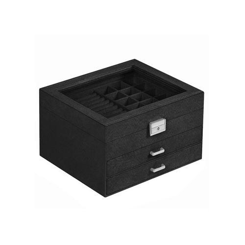 3-Tier Jewelry Display Case Black
