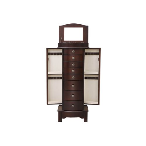 Cambered Front Jewelry Cabinet