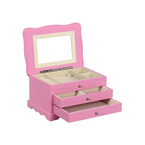 Pink Wooden Jewelry Box
