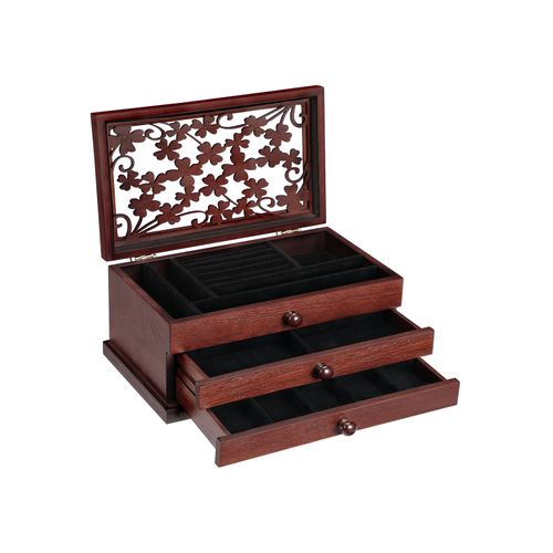 Floral Carving Jewelry Box