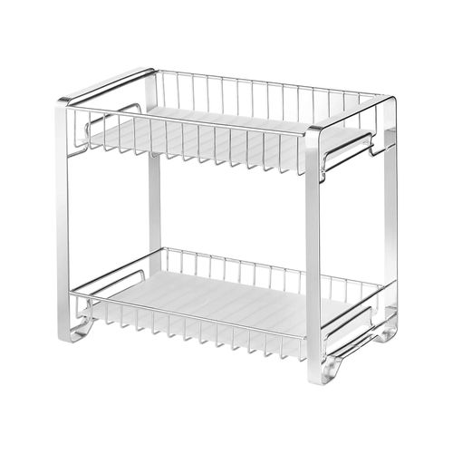 Spice Rack Organizer for Cabinet Silver