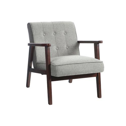 Mid-Century Leisure Chair Light Gray