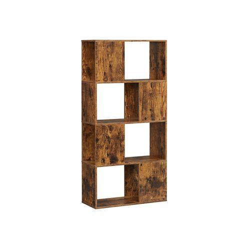 Rustic Brown Zigzag Bookcase