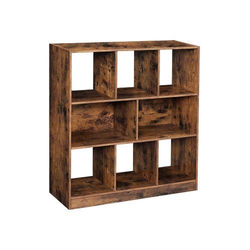Open Shelves Wooden Bookcase