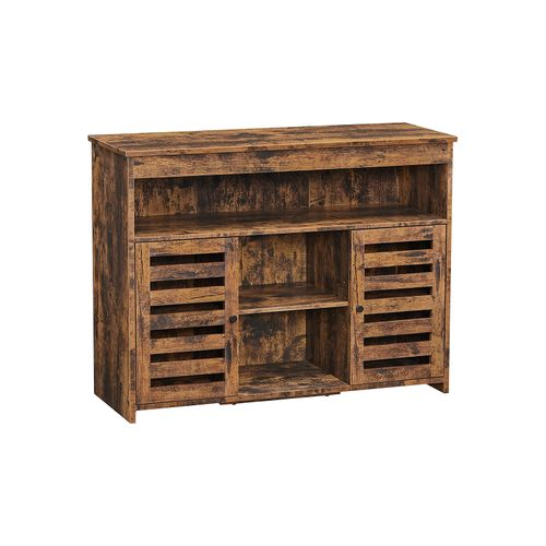Brown Kitchen Storage Sideboard with Shelves