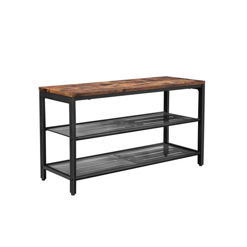 Mesh Shelves Shoe Bench