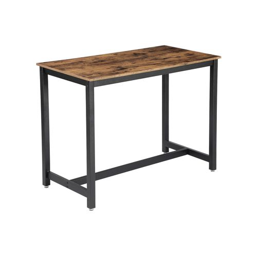 Industrial Rustic Brown Bar Table for 4 People