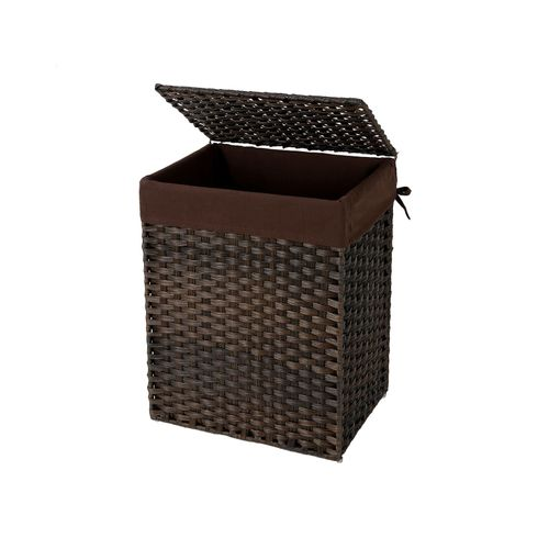Brown Handwoven Laundry Basket