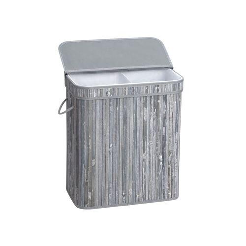 Bamboo Grey Laundry Basket