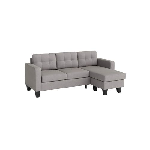 L-Shaped Sectional Sofa with Convertible Chaise