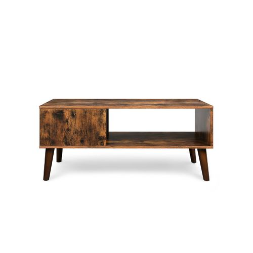 Retro-style Brown Wooden Coffee Table