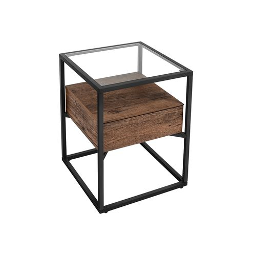Side Table with Drawer and Shelf