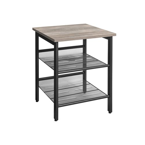 Adjustable Mesh Shelves Nightstand