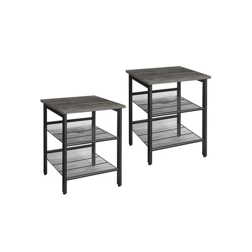 Charcoal Gray Side Tables