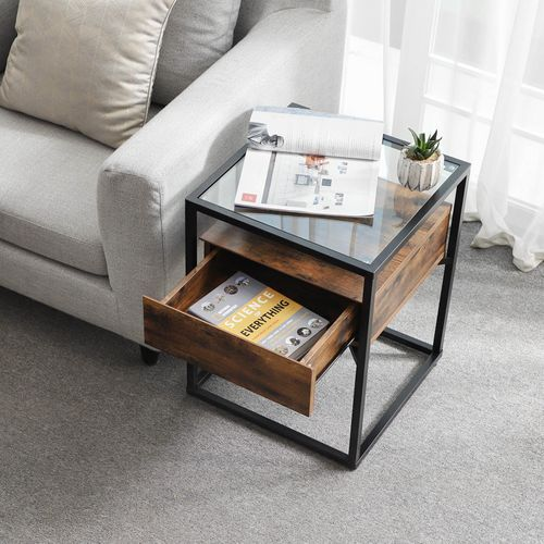 Tempered Glass End Table End Table Vasagle By Songmics