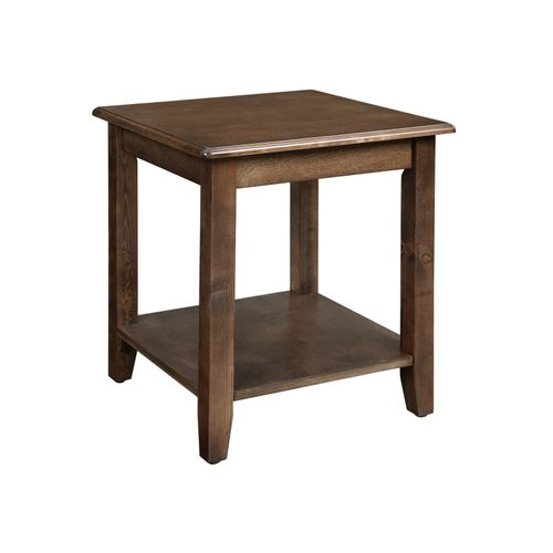 Storage Shelf End Table