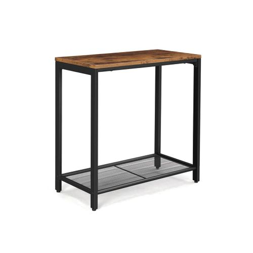 Mesh Shelf End Table