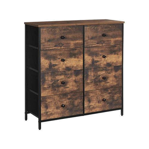 Industrial Dresser Storage Tower with Fabric Drawers