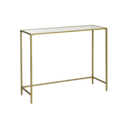 Golden Modern Style Glass Sofa Table
