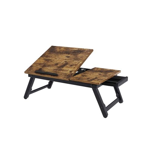Rustic Brown Laptop Desk