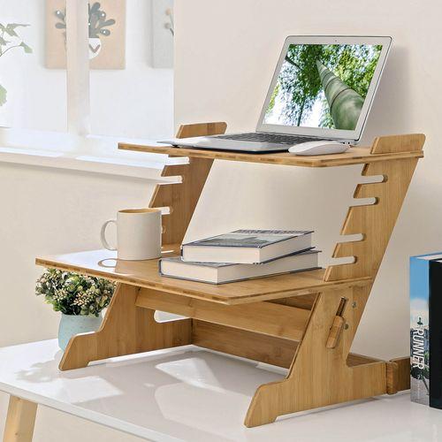 Bamboo Laptop Riser For Home, Bamboo Computer Desk