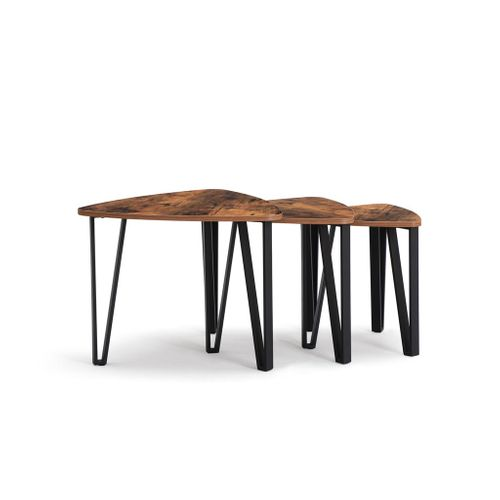 Industrial 3 Pieces Nesting Coffee Tables Set