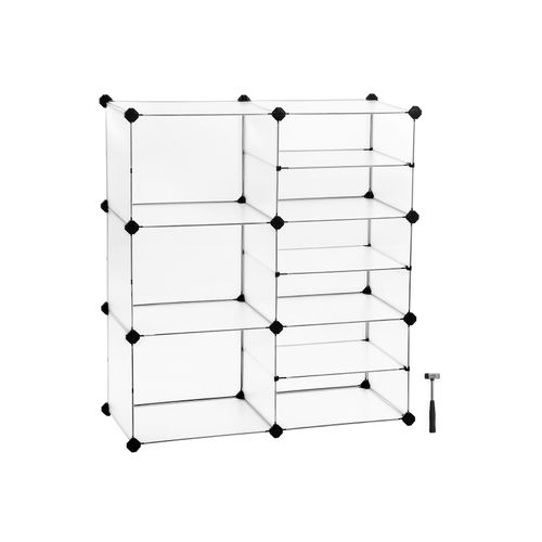 Interlocking Plastic Cubes Organizer