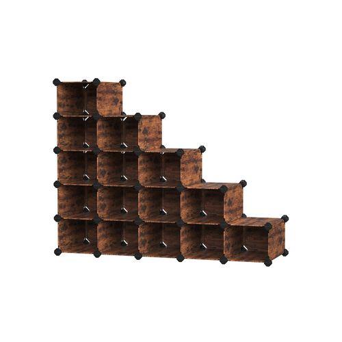 Shoe Rack Rustic Brown
