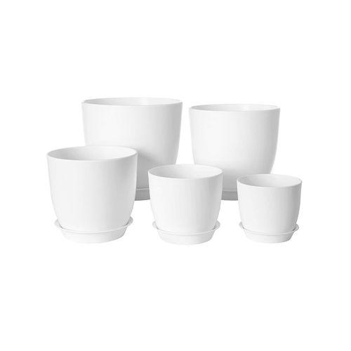 Plastic Plant Pots White