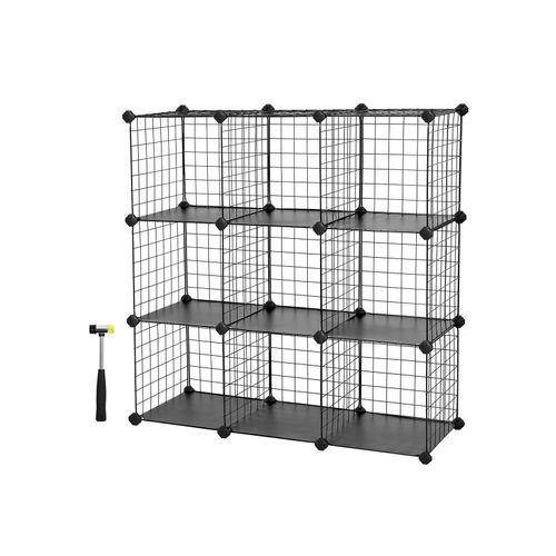 Metal Wire Modular Bookcase