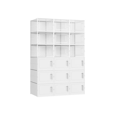 Plastic Shoe Boxes Set of 18