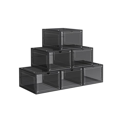 Black Shoe Boxes Set of 6
