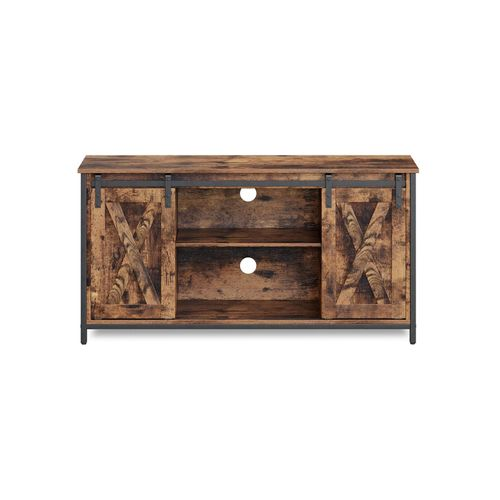 TV Stand with Adjustable Storage Shelve
