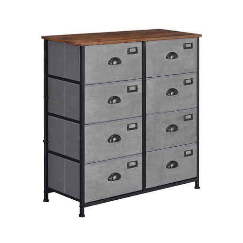Rustic Vertical Dresser Drawer and Gray
