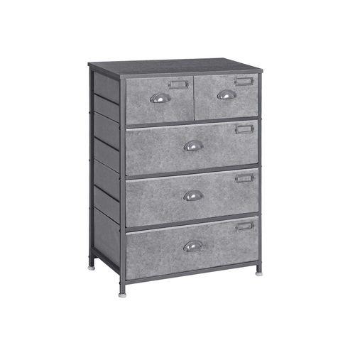 5 Drawers Tall Dresser