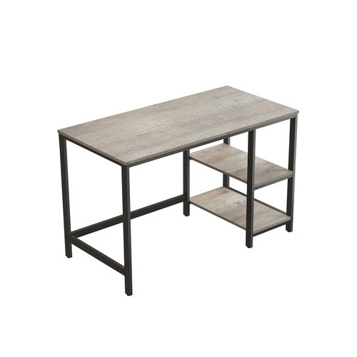 47-Inch Office Study Desk Greige and Black