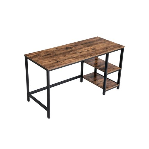 Industrial Brown 55 Inches Computer Desk with Shelves