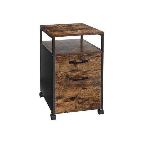 Industrial Brown File Cabinet with Drawer