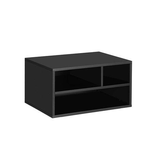 Black Steel Desktop Printer Stand for Office