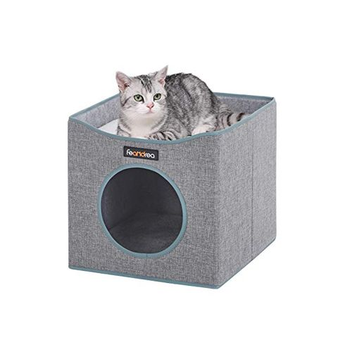 Gray Foldable Cat Condo