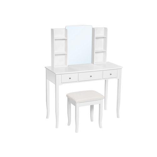 Combined Shelf Mirror Vanity Set