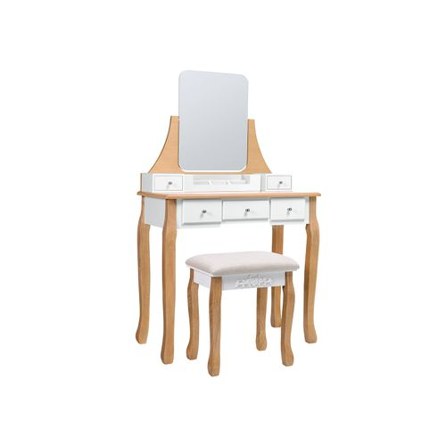 Frameless Mirror Dressing Table
