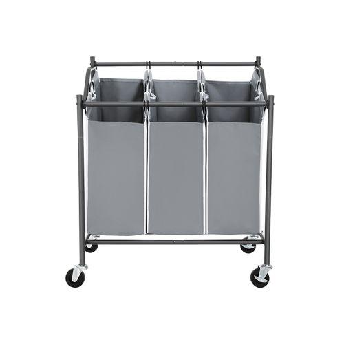 3 Bags Laundry Cart